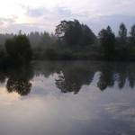 Świt nad łowiskiem